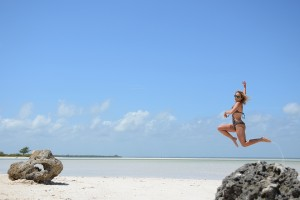 Jumping through paradise