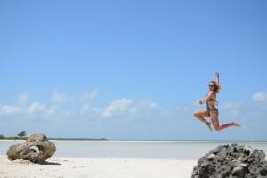 Jumping through paradise